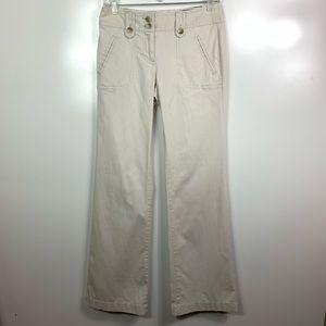 Ann Taylor signature fit khaki pants size 0 NWT